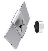Turn & Click. Align your Lock Belt with the mount disk and turn until you feel the reassuring 'click' that indicates your iPad is firmly mounted, in either landscape or portrait, and at perfect 90º.