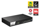 Draytek Vigor 2952 Dual WAN Broadband Fibre Router with Security Firewall Router, 4x LAN Ports, 100x VPN and 50x SSL-VPN Tunnels