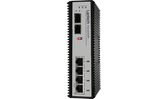 Industrial Unmanaged Switch 4x 10/100/1000T PoE at + 2x Dual Speed SFP