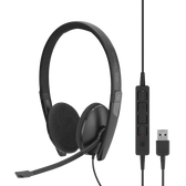 Sennheiser ADAPT SC160 USB Wired Binaural Headset, Skype for Business certified and UC Optimised.