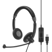 Sennheiser Impact SC70 USB Wired Binaural Headset, Skype for Business certified and UC Optimised.