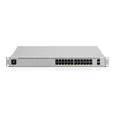 Ubiquiti UniFi 24-port switch with (24) Gigabit RJ45 ports and (2) 10G SFP+ ports. Powerful second-generation UniFi switching