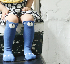 Mini Dressing Bear Knee High Socks