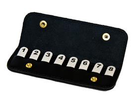 Position Finders in Leather Wallet, 1-8
