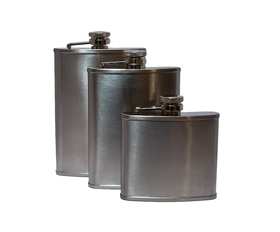 Satin Finish Hip Flasks