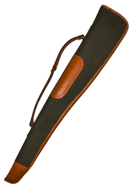 Deluxe Gunslip - Olive Canvas with Leather Trim