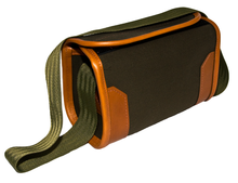 Cartridge Bag - Olive Canvas with Leather Trim