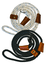 Slip Leads: Field Trial range (leather fittings) -  black, white