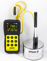 Phase II PHT-1900 Portable Hardness Tester with color display and D impact device. Brystar Metrology Tools