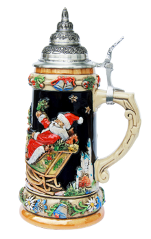 Christmas Ceramic Beer Stein for Sale