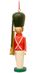 German Wooden Toy Soldier Christmas Ornament