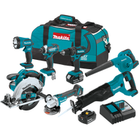 Makita XT706 18V LXT® Lithium‑Ion Cordless 3.0Ah 7 Piece Combo Kit