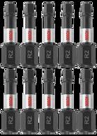Bosch ITSQ21B 10 piece Impact Tough™ 1 In Square #2 SQ1 Insert Bits