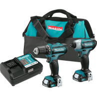 Makita CT226 12V max CXT™ Drill and Impact Lithium‑Ion Cordless 2‑Pc. Combo Kit (1.5Ah) offers two compact solutions for drilling, driving, and fastening.