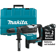 "Makita XRH07ZKU 18V X2 LXT® Lithium‑Ion (36V) Brushless Cordless 1‑9/16"" Advanced AVT® Rotary Hammer, accepts SDS‑MAX bits, AWS™, Tool Only has an efficient Makita BL™ Brushless Motor for up to 50% longer run time, increased power and speed, and longer tool life."