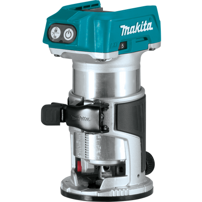 Makita XTR01T7 18V LXT® Lithium‑Ion Brushless Cordless Compact Router Kit (5.0Ah) has an efficient Makita BL™ Brushless Motor for up to 50% longer run time, increased power and speed, and longer tool life.