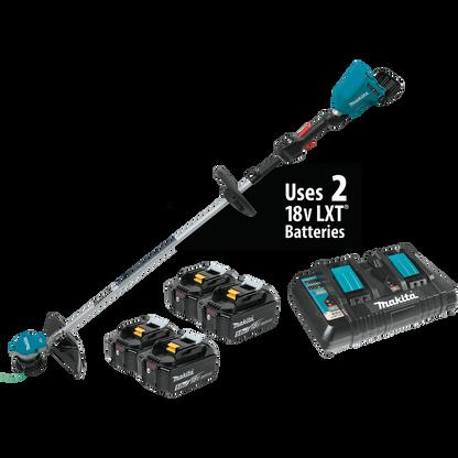 Makita XRU09PT1 – 18V X2 (36V) LXT® Brushless Cordless String Trimmer Kit with 4 batteries