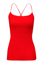 Nice essential tank top in poppy red | Wellicious at Fire and Shine | Women's tanks