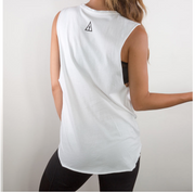 Organic Warrior Tee in White | Slinkii at Fire and Shine | Womens Tanks