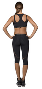 Zip Crop Top Black | Vicious Body at Fire and Shine | Womens Crops