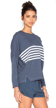 Stripe Pullover Denim and White | Sundry at Fire and Shine | Womens Tops
