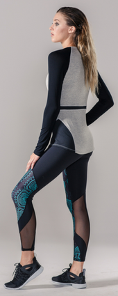 Raglan Pullover Grey/Black | Body Language at Fire and Shine | Long-Sleeve Tops