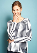 Sundry - Stripe Long-Sleeve - White/Navy