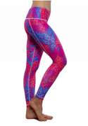 Paris Reversible Legging Citrus/Firebird | Nux at Fire and Shine | Womens Leggings