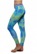 Paris Reversible Legging Citrus/Firebird | Nux at Fire and Shine | Womens Leggings
