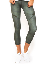 Courtside 7/8 Legging Khaki | First Base at Fire and Shine | Womens Leggings