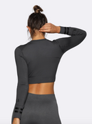 Long Sleeve Crop - Nicky Kay at Fire and Shine - Womens Tops