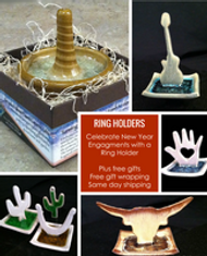 Ring Holders Made in USA Gift Wrapped for New Years Engagements.