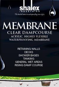 Shalex Industries Membrane Clear Dampcourse