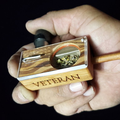 VETERAN's BOX ~ Cherry hardwood (Wooden stem sold separately)