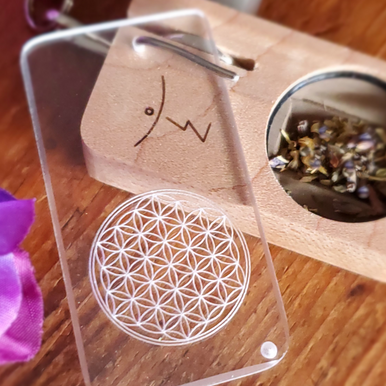 Maple Flower of Life with retractable clip