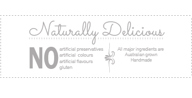 Tall Poppy Gourmet products are naturally delicious and contain no gluten, colours, preservatives or flavours