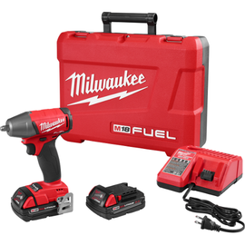 """Milwaukee 2754-22CT - M18 FUEL™ 3/8"""" Compact Impact Wrench w/ Friction Ring Kit - CP Batteries"""