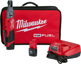 "Milwaukee 2556-22 - M12 FUEL™ 1/4"" Ratchet 2 Battery Kit"