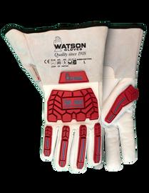 Watson Van Goat 9549TPR - Van Goat Ansi Cut A5 C100 Lined Goatskin Gauntlet W/ Tpr - Medium