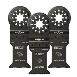 """Imperial Blades IBSL200-3 - Starlock™ 1-3/8"""" Standard Wood Blade, 3PC"""