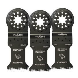 "Imperial Blades IBSL220-3 - Starlock™ 1-3/8"" Japanese Tooth Hardwood Blade, 3PC"