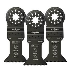 """Imperial Blades IBSL340-3 - Starlock™ 1-3/4"""" Multi-Material Metal/Wood Blade, 3PC"""