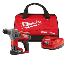 "Milwaukee 2416-21XC - M12 FUEL™ 5/8"" SDS Plus Rotary Hammer Kit"