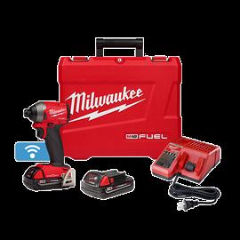 "Milwaukee 2857-22CT - M18 FUEL™ 1/4"" Hex Impact Driver w/ ONE-KEY™ CP Kit"