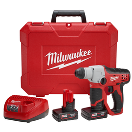 "Milwaukee 2412-22XC - M12™ Cordless Lithium-Ion 1/2"" SDS-Plus Rotary Hammer Kit"