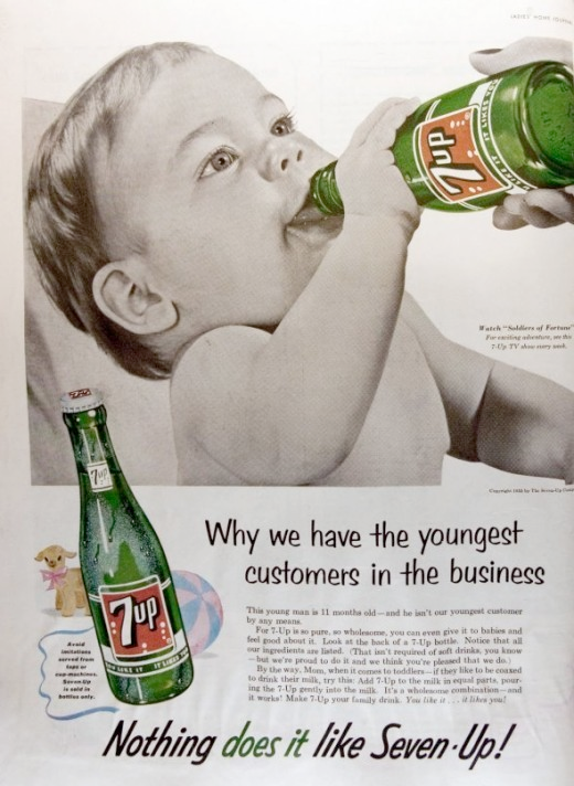 baby drinking cola