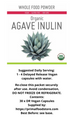 Blue Agave Inulin powder contained in 30 x  Vegan Delayed Release Capsules. Grown in Mexico to Certified Organic standards.
