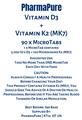 Vitamin D3+ Vitamin K2 (MK7) 90 x MicroTabs