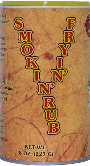 Creative Cajun Cooking Smokin' Fryin' Rub Be careful, this may burn you up, so use it sparingly.  Rub it on a turkey or chicken to fry without a batter, or sprinkle it lightly on your favorite meat before adding Magic Swamp Dust, to add that extra buttery mesquite flavor!