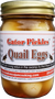 You will love the taste Gator Pickle Quail Eggs. The taste may just make you eat the whole jar in one sitting like the other products we carry. Just enough sweet and heat!  Seasoned with the fabulous Magic Swamp Dust.  Probably the BEST Pickled Quail Eggs you'll ever eat!